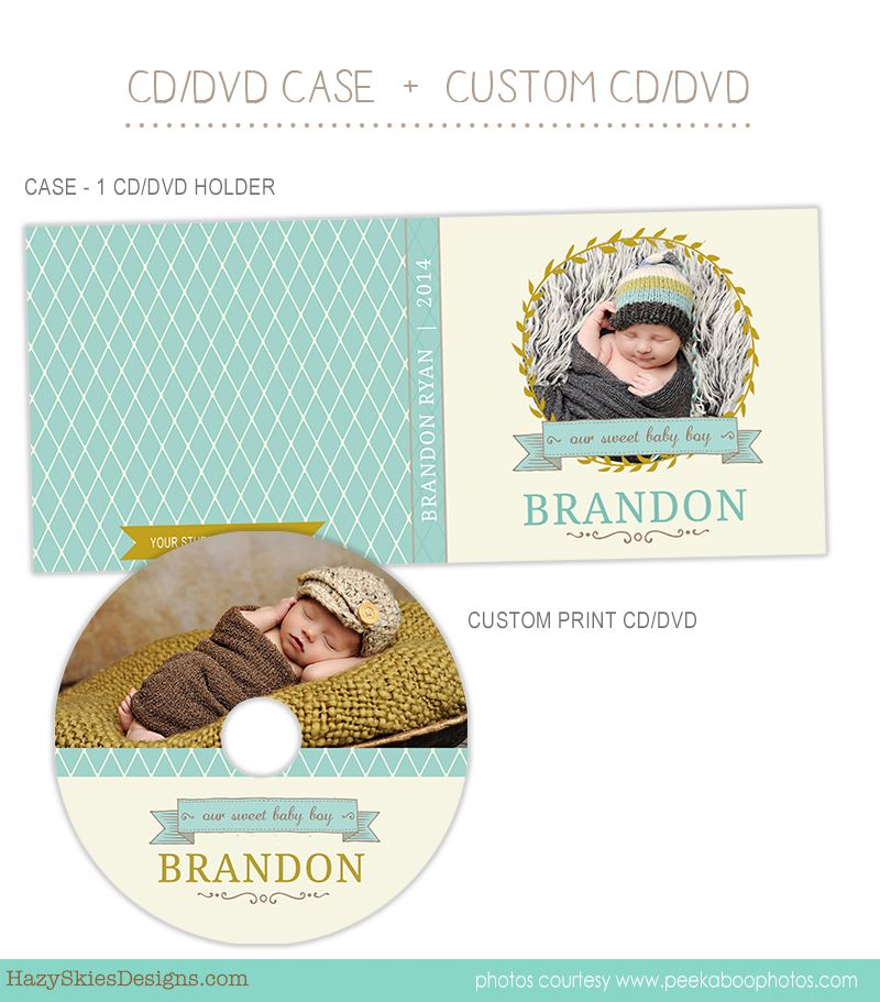 CD Label + CD Case Photoshop Template for Photographers #CD #DVD ...