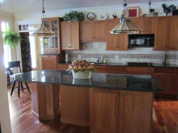 beadboard ceiling in kitchen