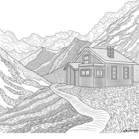 Ausmalbilder Berge Berge Malvorlagen Painting