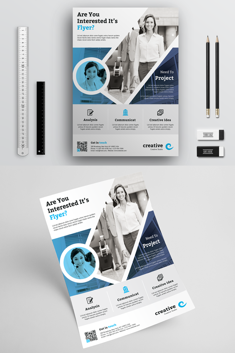 Corporate Business Flyer Template Business Poster Business Cards Layout Flyer