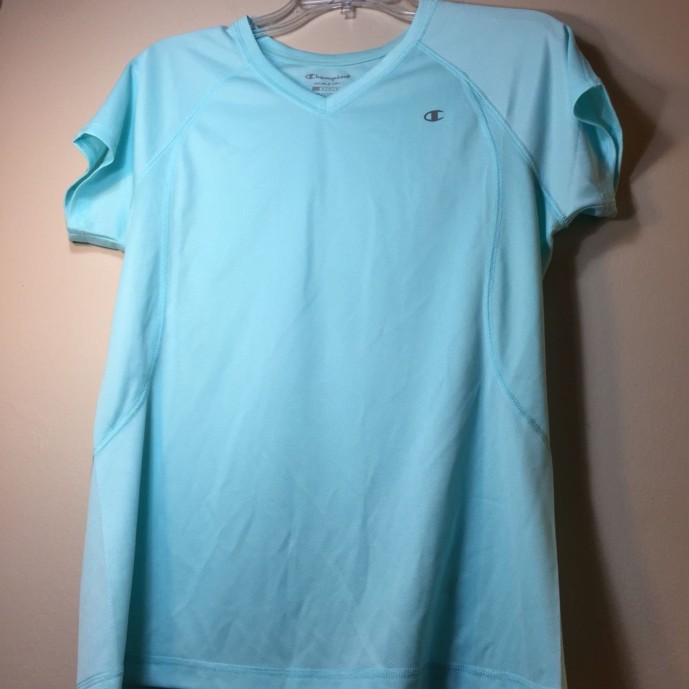 b50f2c59bf2f Champion Short Sleeve Light Blue Womens Exercise top Large #fashion # clothing #shoes #accessories #womensclothing #activewear (ebay link)