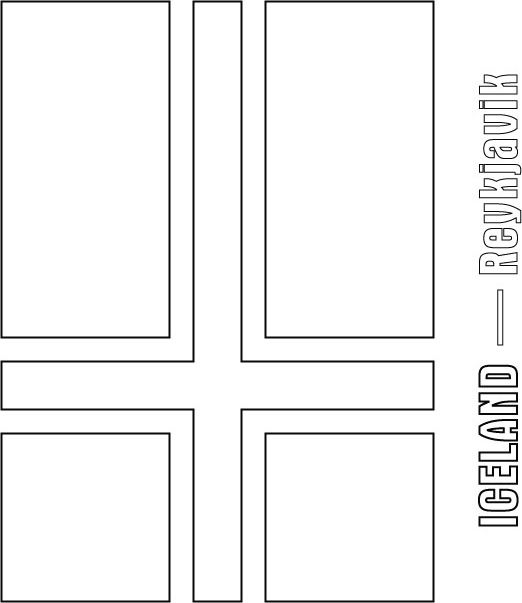Iceland Flag Coloring Page Sonlight Core C Windon On The World