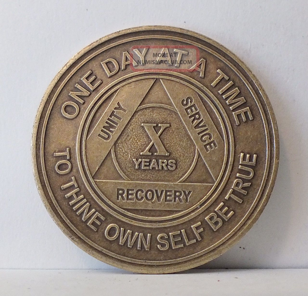 Alcoholics Anonymous AA Silver Plated Anniversary Medallion Chip Coin Any Year