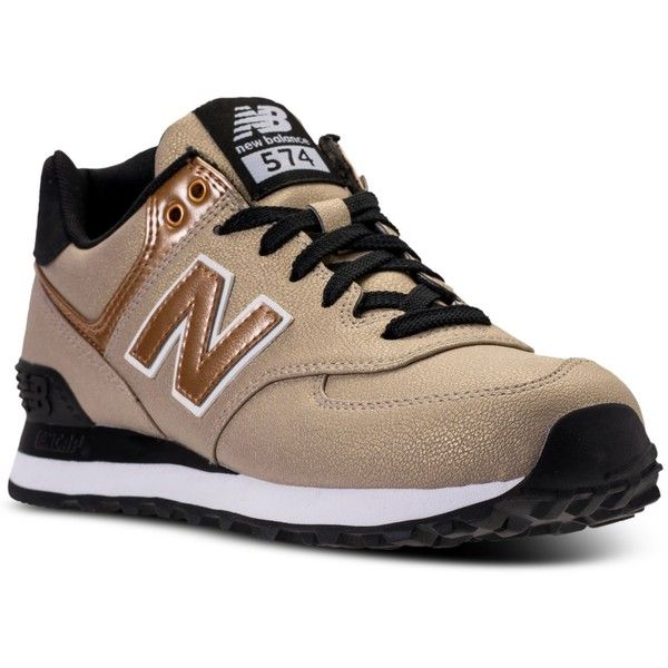New Balance Women's 574 Seasonal Shimmer Casual Sneakers from Finish...  ($80)