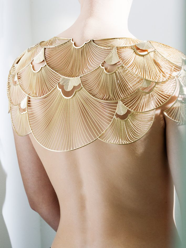 Claire Choisne of Boucheron on crafting a delicate gold cape.