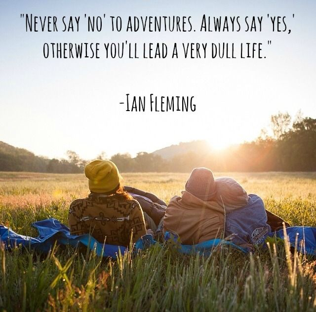 QOTD: Never say 'no' to adventure. Always say 'yes,' otherwise you'll lead a very dull life. - Ian Fleming #thesydneyproject