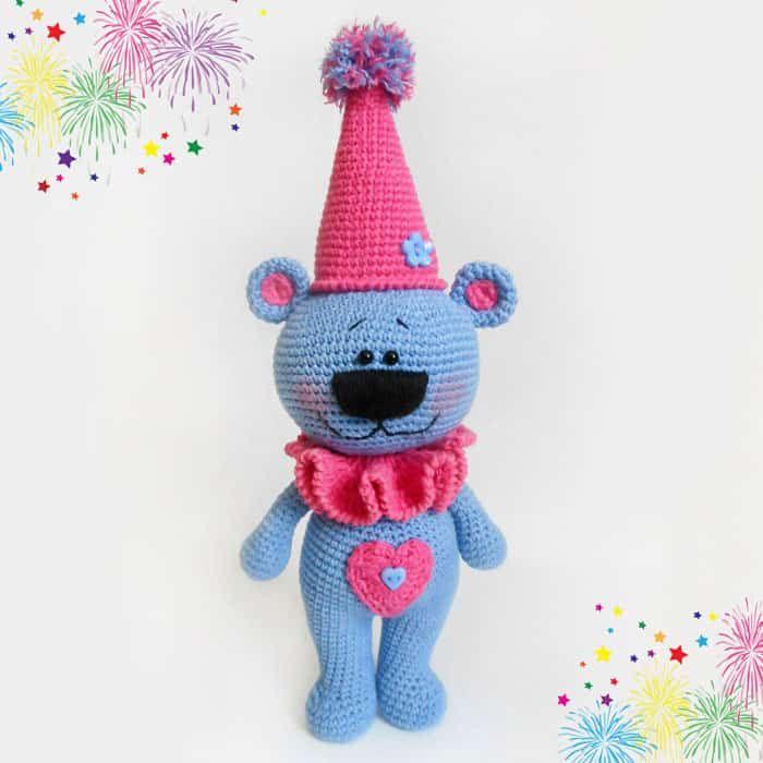 Crochet festivo oso libre patrón de amigurumi | Mi estilo ...
