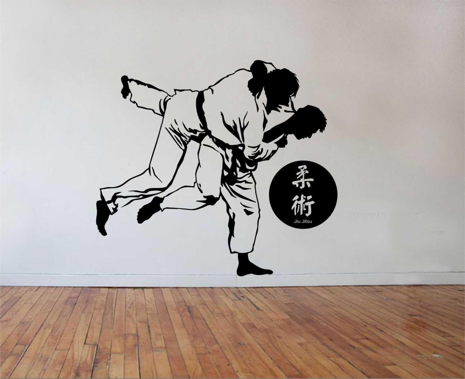 Ju Jitsu Wall Decal Karate Vinyl Sticker Art Decor Bedroom Design Mural Martial Arts Home