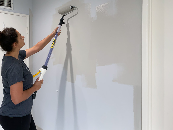 Painting A Diy Board And Batten Wall Quickly In 2020 Diy Boards Diy Life Using A Paint Sprayer