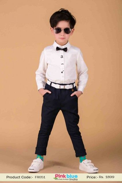48d0cddaaab0f Smart Navy Blue Formal Pant and Trouser for Children | Buy Baby Boys ...