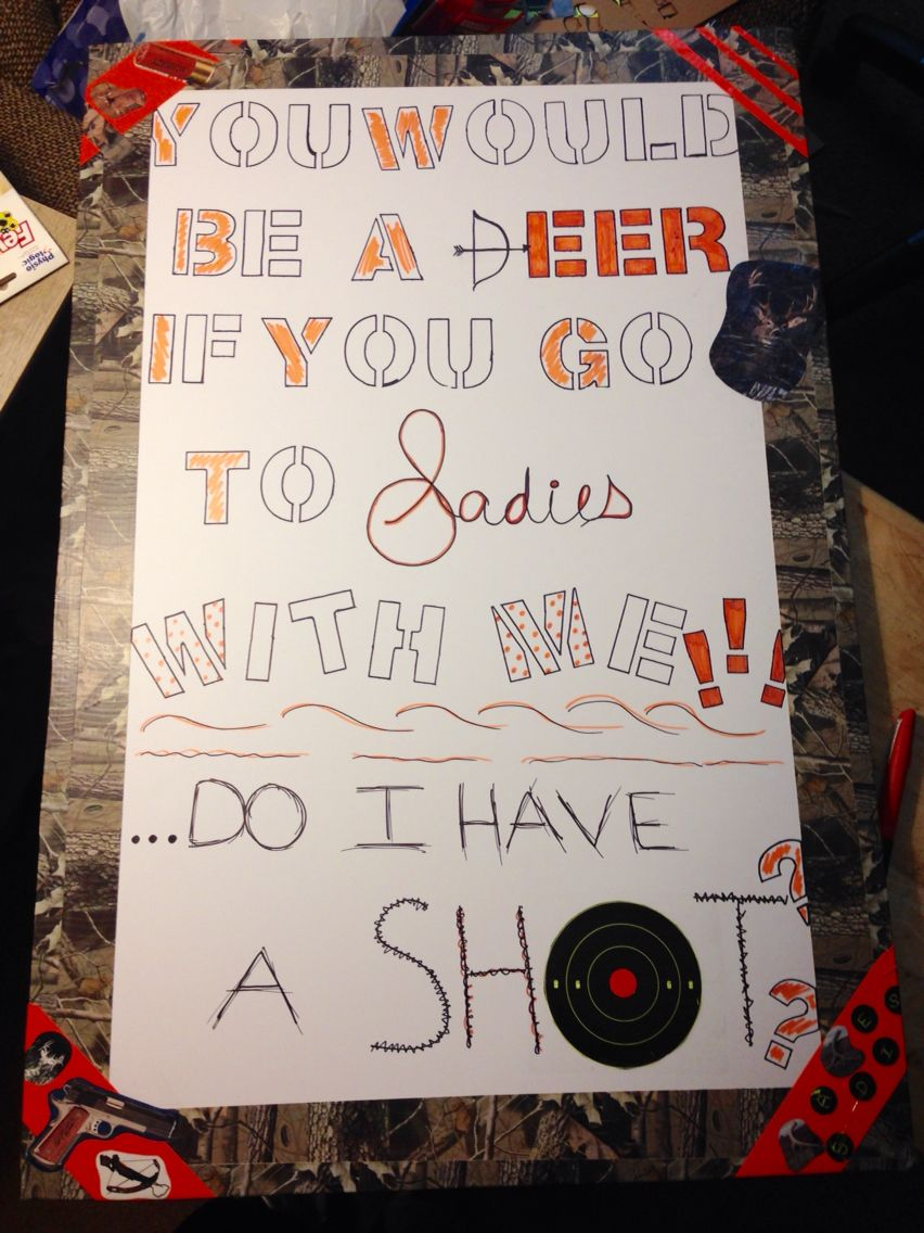 Cute ideas to ask a boy to sadie hawkins - How I Asked My Date To The Sadie Hawkins Dance