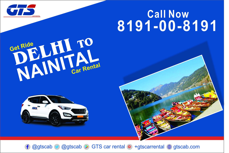 Delhi to Nainital Cabs 8191008191 Car rental, Nainital