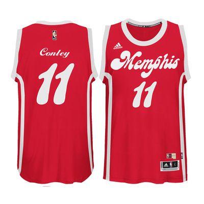 online store 41794 c8ce5 Men's Memphis Grizzlies Mike Conley adidas Red Current ...