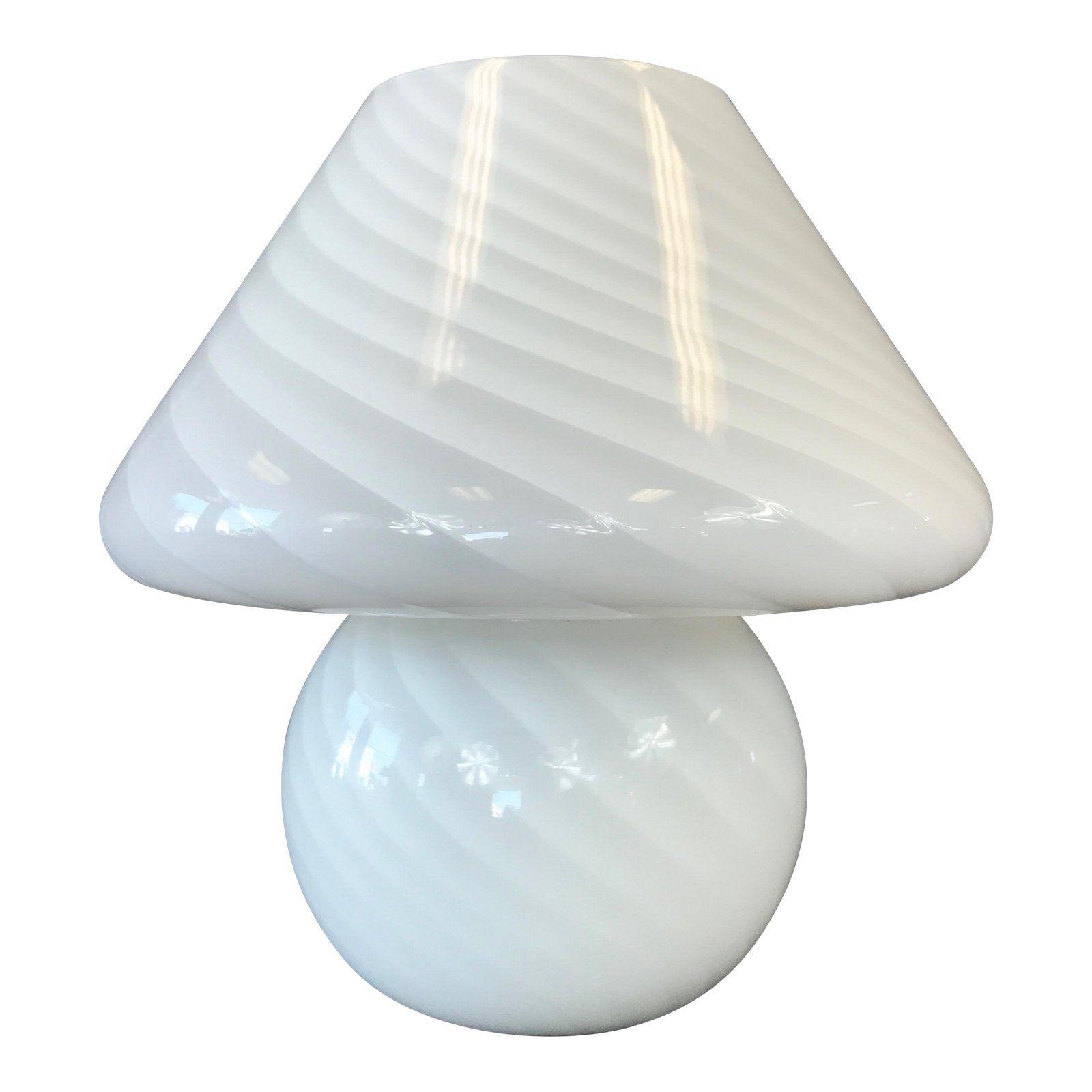 Vintage Vetri Murano Glass Mushroom Lamp Mushroom Lamp Glass Mushrooms Lamp
