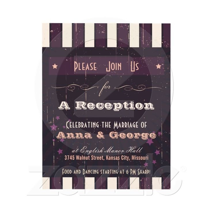 pink reception only wedding invitations printed professionally, Wedding invitations
