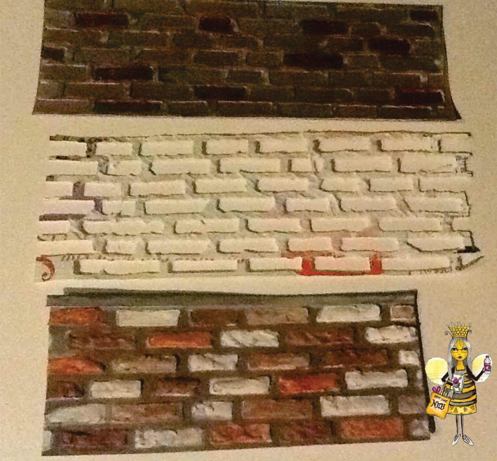 My Legacy: Tim Holtz\'s Brick Wall Die used as a stencil | Thin Dies ...