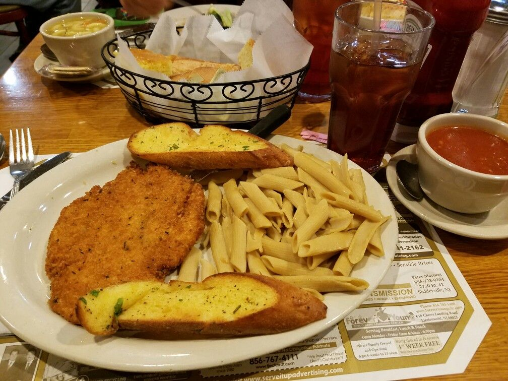 Superb My Dinner At The Lamp Post Diner In Clementon, New Jersey: Chicken Cutlet  With