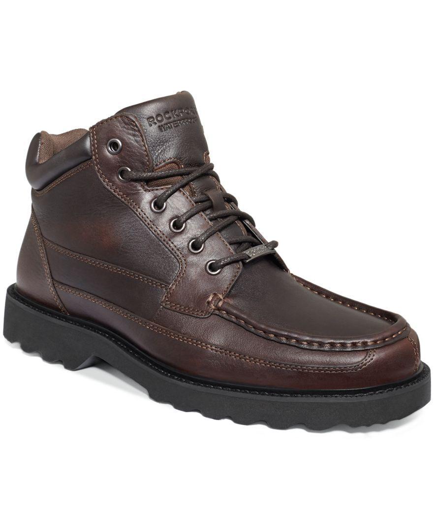 Rockport Dougland Waterproof Moc-Toe Boots - All Men's Shoes - Men - Macy's