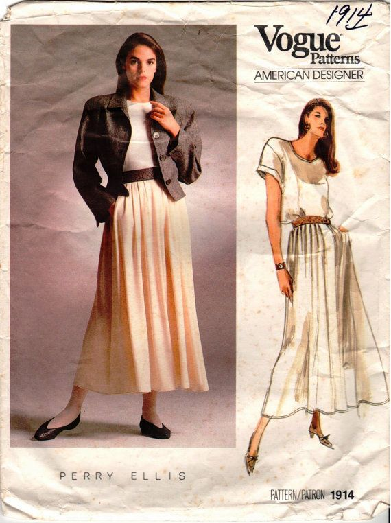 Vintage Vogue American Designer PERRY ELLIS by AllThingsVogue