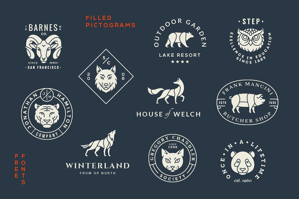 Animal Logo/Badge Templates Vol 2 by GraphicBurger on