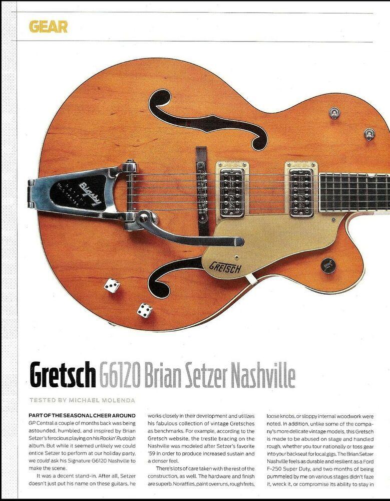 Review Brian Setzer Christmas Show 2020 Brian Setzer Signature Gretsch Nashville G6120 Guitar Review w