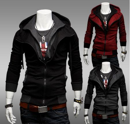 Men Jacket, Men Hoodie, 2013 Slim Fit Zip Up Long Sleeves Mens ...