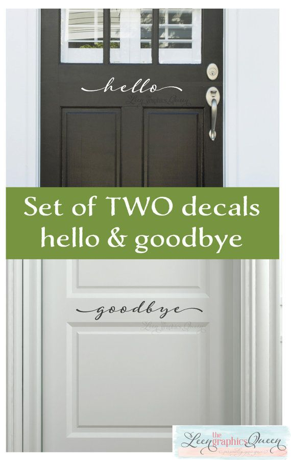 A Hello door decal for the outside of your door & This set includes TWO decals! A Hello door decal for the outside of ...