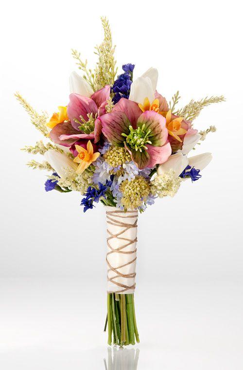 Renaissance Wedding bouquets | Colorful, unique wild flowers arranged in a perfect wedding bouquet