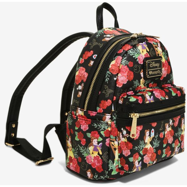 b8919f06c01 Loungefly Disney Beauty And The Beast Belle Floral Mini Backpack ( 60) ❤  liked on Polyvore featuring bags