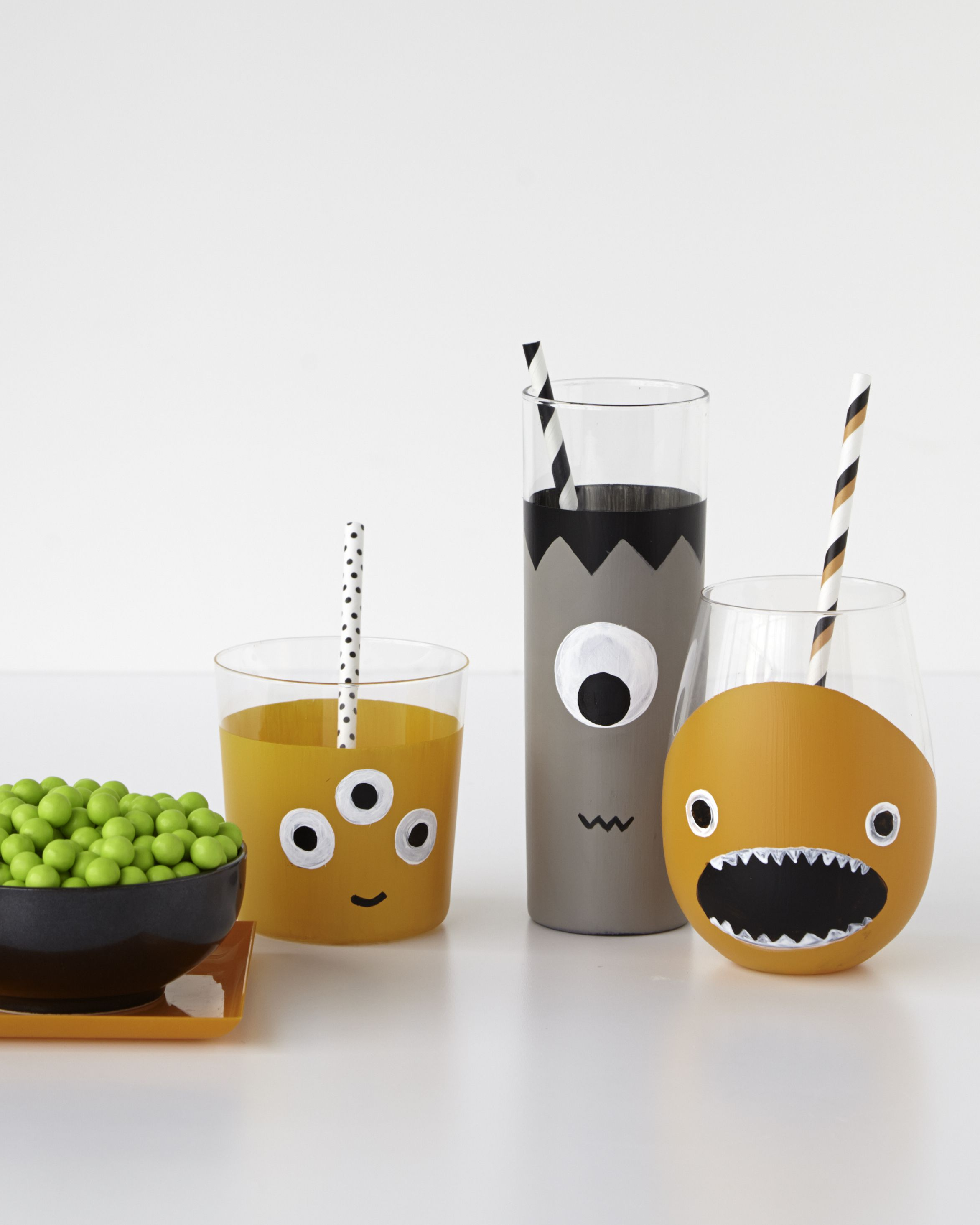 customize your drinkware for halloween with marthstewartcrafts