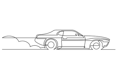 Car Drawing Stock Photos Royalty Free Images Vectors Video Line Drawing Continuous Line Drawing Single Line Drawing