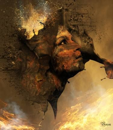 "Saatchi Art Artist Bojan Jevtić; Photography, ""Volcano Girl - Limited Edition #2 of 10"" #art"