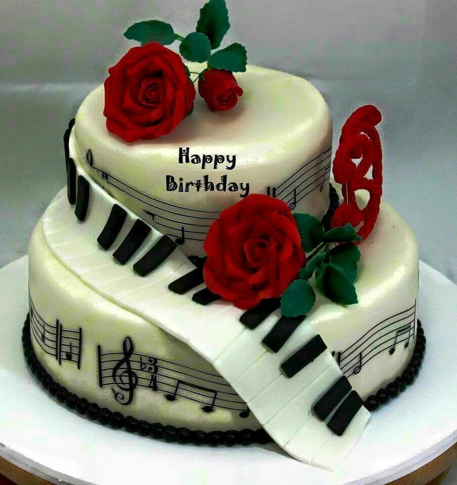 Happy Birthday Music Cake Happy Birthday Pinterest Happy