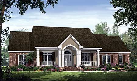Plan 51038mm great open floor plan traditional house for Usda approved builders