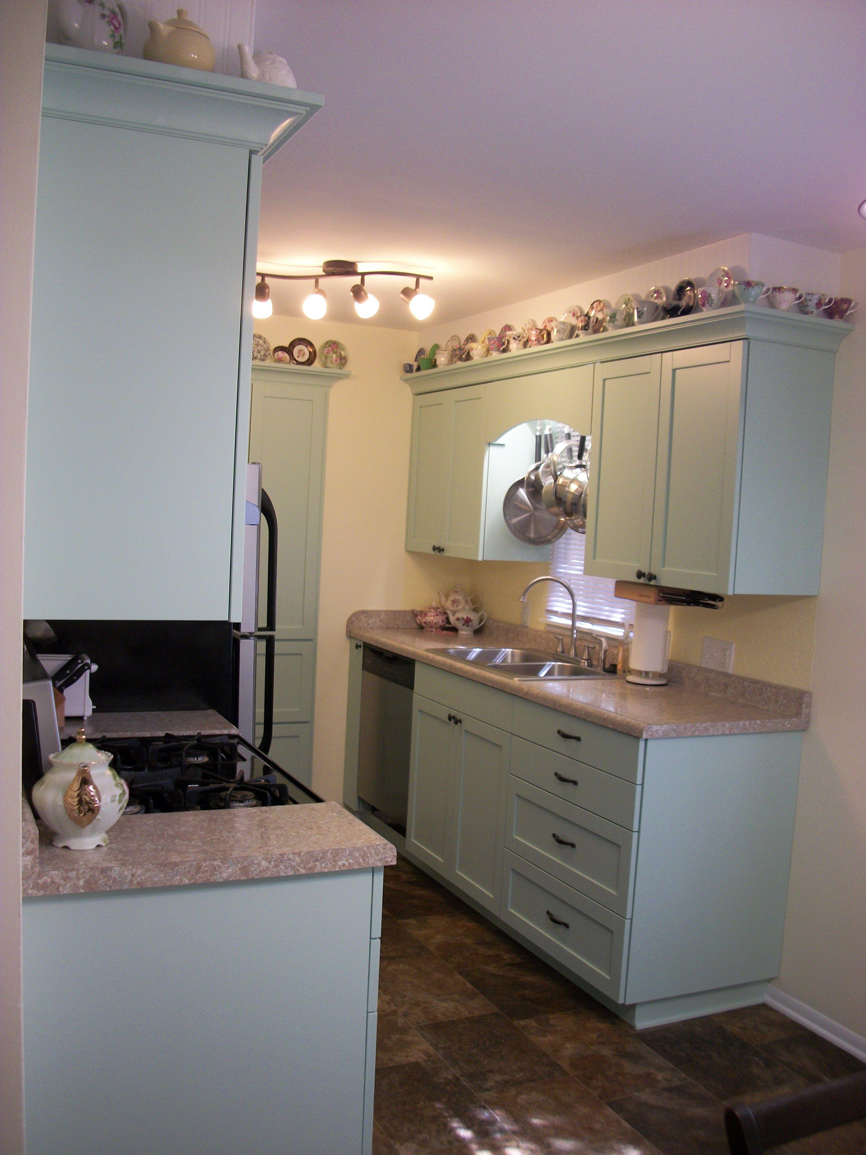 Best My Finished Kitchen New Cabinets Mdf W White Mel 640 x 480