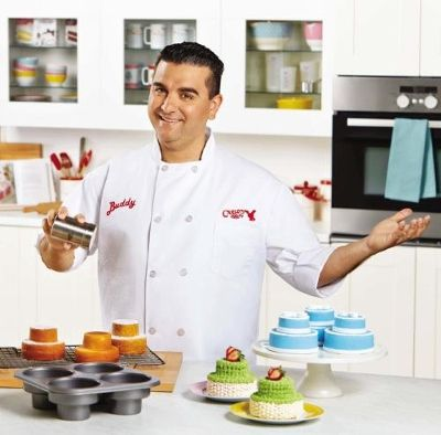 Buddy Valastro, Star of TLC's hit reality show Cake Boss showcases Cake Boss Baking products offered by Meyer Corporation, U.S. in partnership with TLC.