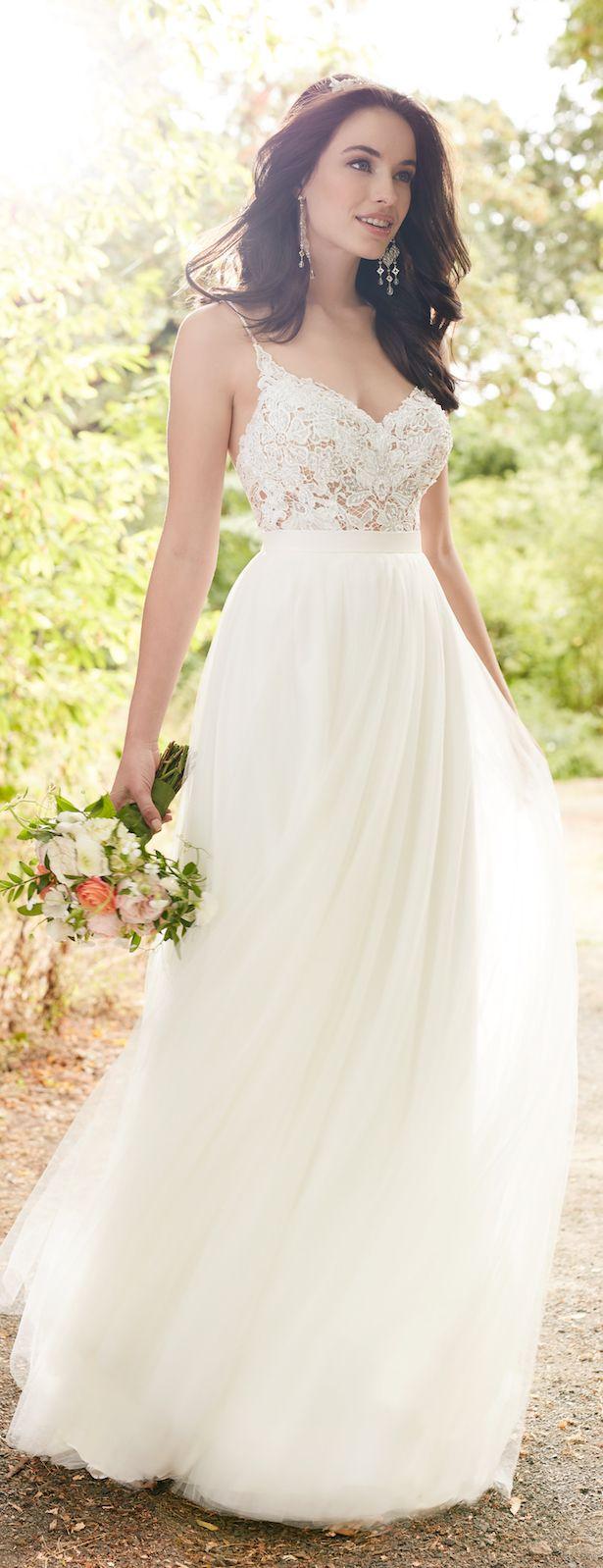 Corset Organza Wedding Dress By Camille La Vie | Strapless wedding ...