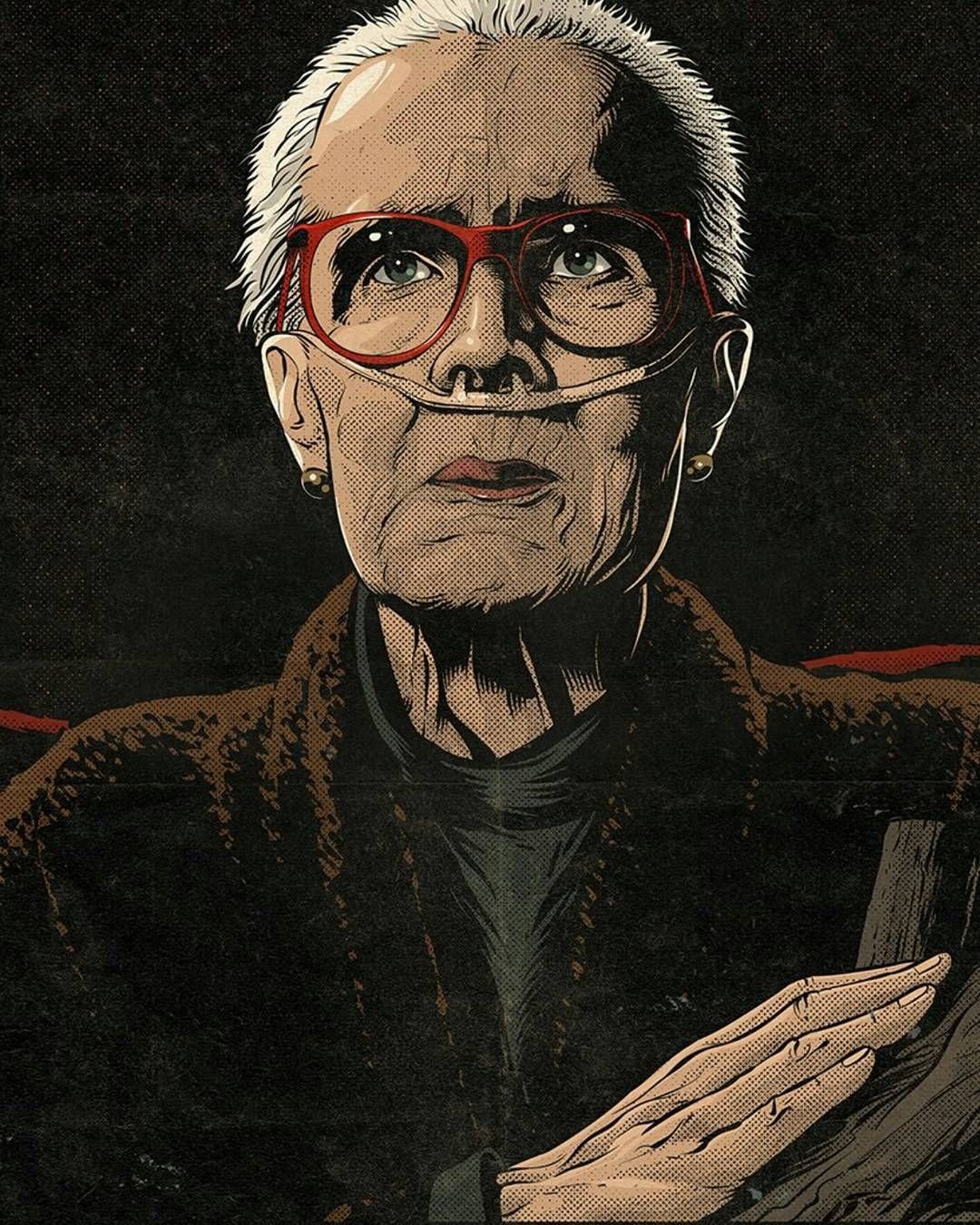 Had to screengrab this one from the crisvector Twitter account. Great #TwinPeaks illustrations. @crisvector brings us the Log Lady. . . . . #twinpeaksthereturn #thezone #catherinecaulson #margaretlanterman #theloglady #davidlynch #markfrost #twinpeaksshowtime #lauraistheone #petepeppers