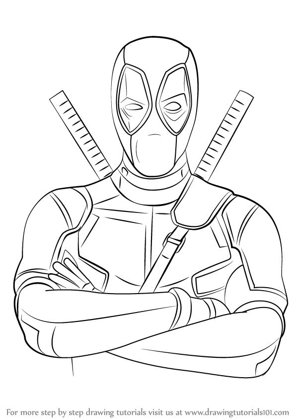 Resultado De Imagen Para How To Draw Deadpool Step By Step Easy