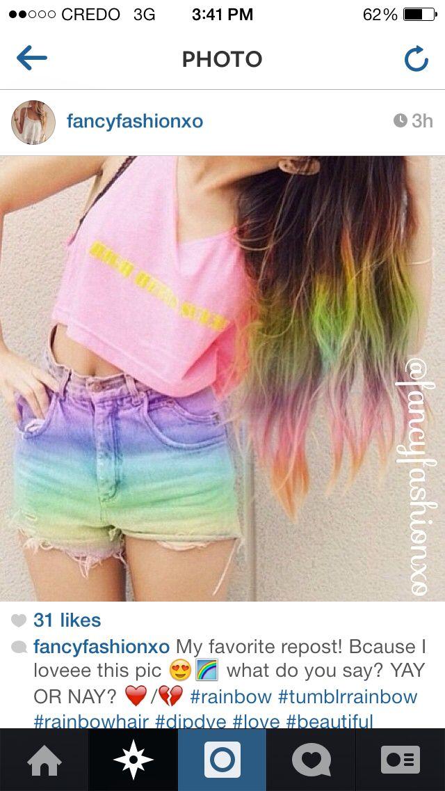 Rainbow Sac Rengi Sac Sac Rengi Fikirleri