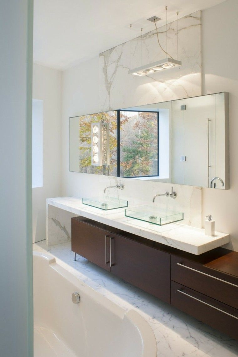 baño moderno al estilo minimalista con lavabo precioso   Baños ...