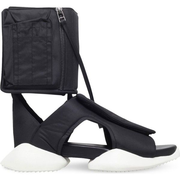 Rick owens x adidas cargo sandals ($700) ❤ liked on Polyvore featuring  men's fashion, men's shoes, men's sandals, black, mens black shoes, mens  black ...