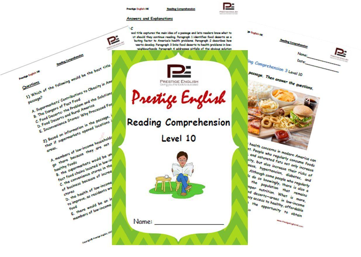 Reading Comprehension Book