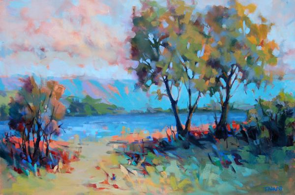 New Painting - Lazy River | Trisha Adams - Blog