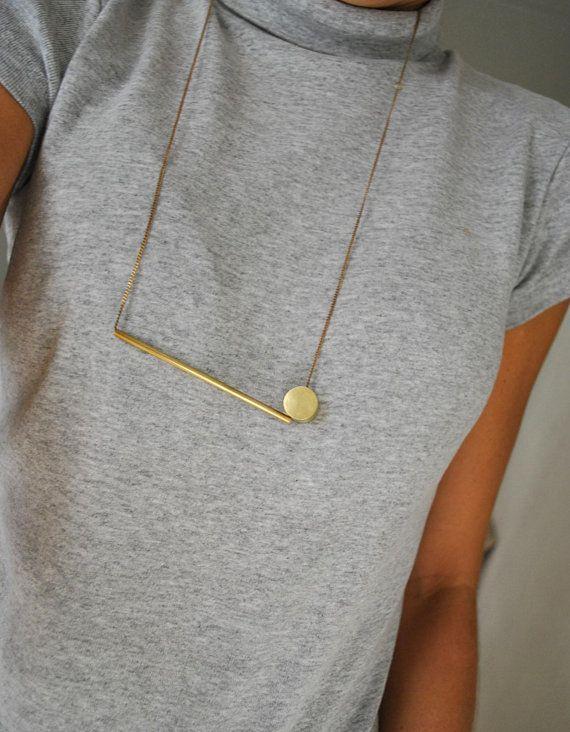 Photo of Tube circle bronze necklace  dot tube necklace   tube bronze | Etsy