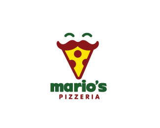 mario s pizzeria logo design a mustachioed pizza slice mascot perfect for any kind of pizza parlo in 2020 restaurant logo design pizza logo italian restaurant logos pizza logo italian restaurant logos