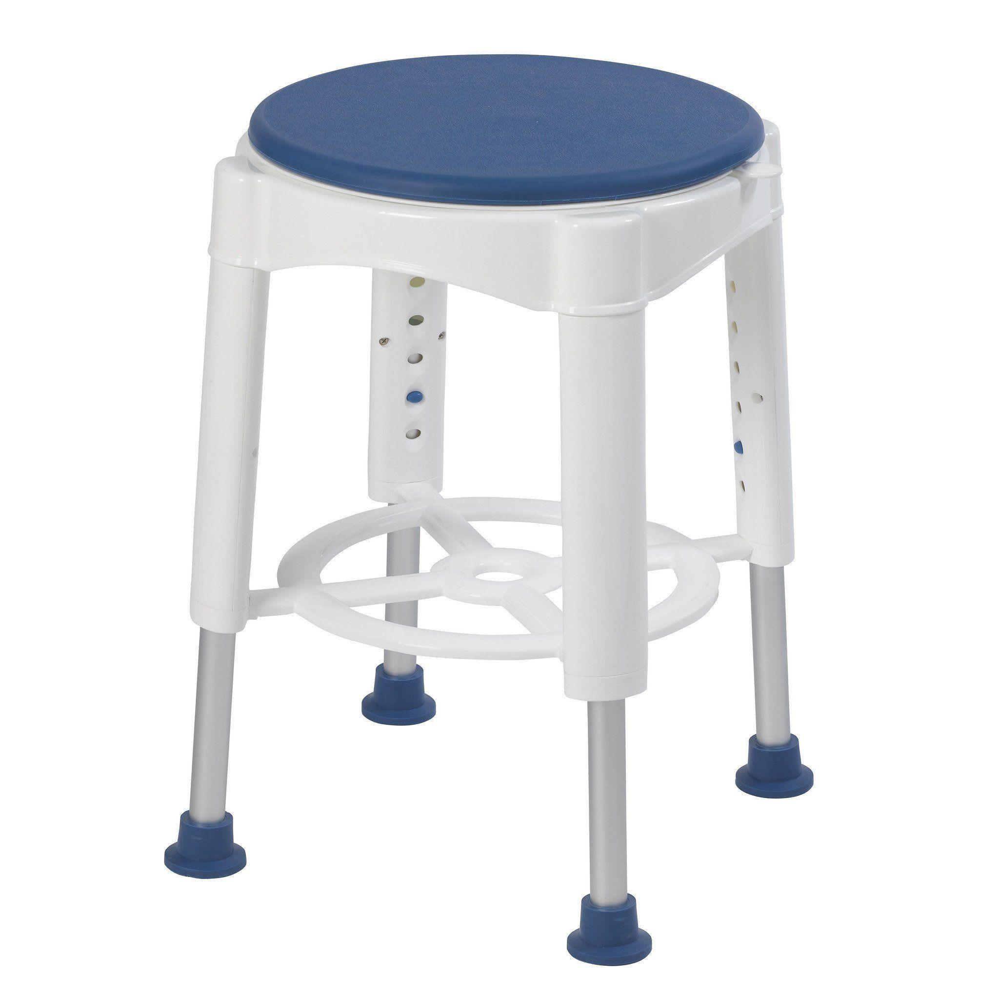 Drive Medical RTL12061M Bathroom Safety Swivel Seat Shower Stool ...