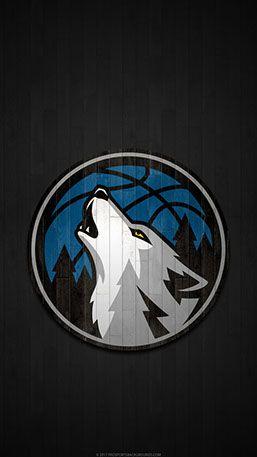 Minnesota Timberwolves Mobile Hardwood Logo Wallpaper V1