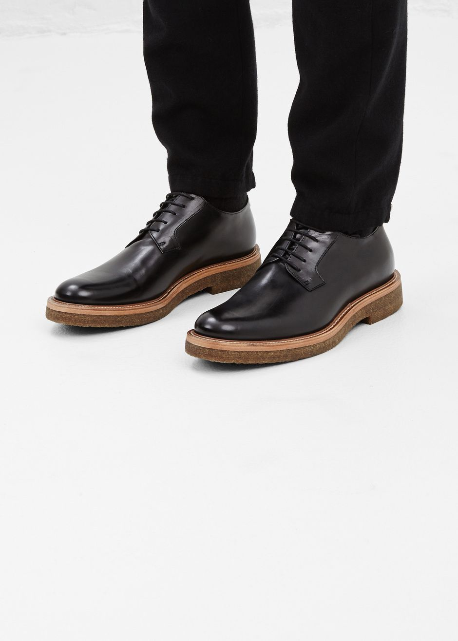 0f9dc87dc8e Dries Van Noten Crepe Sole Derby (Black)