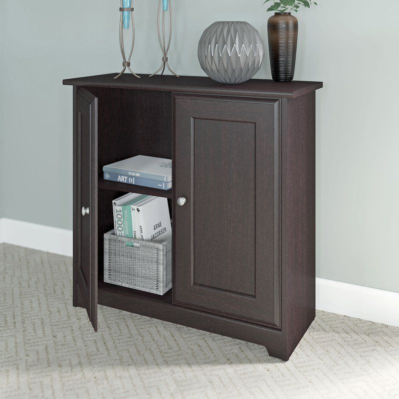 Bush Furniture Cabot Low Storage Cabinet with Doors - WC31896-03 & Bush Furniture Cabot Low Storage Cabinet with Doors - WC31896-03 ...